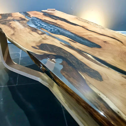 Stunning Resin River Table Using GlassCast 50 Clear Epoxy Resin